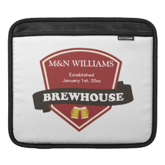 Customize Your Name Brewhouse Logo Sleeve For iPads