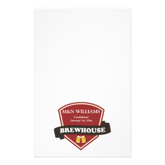 Customize Your Name Brewhouse Logo Custom Stationery
