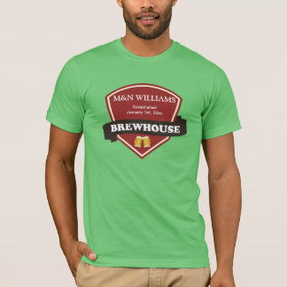 Customize Your Name Brewhouse Logo T-Shirt