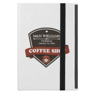 Customize Your Name Coffee Shop Logo Cover For iPad Mini