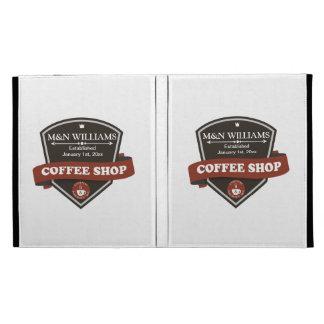 Customize Your Name Coffee Shop Logo iPad Folio Cover