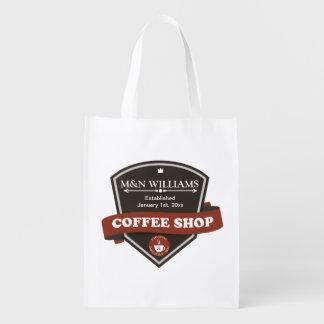 Customize Your Name Coffee Shop Logo Market Tote
