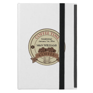 Customize Your Name Coffee Time Logo Case For iPad Mini