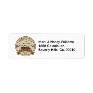 Customize Your Name Coffee Time Logo Label