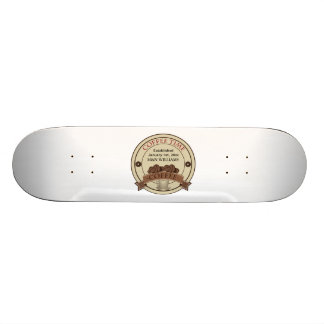 Customize Your Name Coffee Time Logo Skateboard Deck