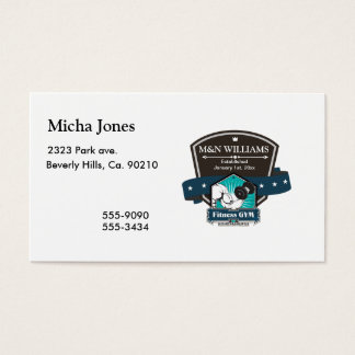 Customize Your Name Fitness Gym Logo Business Card