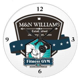 Customize Your Name Fitness Gym Logo Wallclock