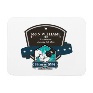 Customize Your Name Fitness Gym Logo Magnet