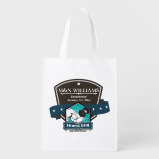 Customize Your Name Fitness Gym Logo Market Tote