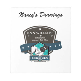 Customize Your Name Fitness Gym Logo Note Pad