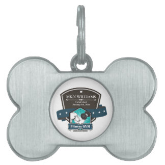 Customize Your Name Fitness Gym Logo Pet ID Tag