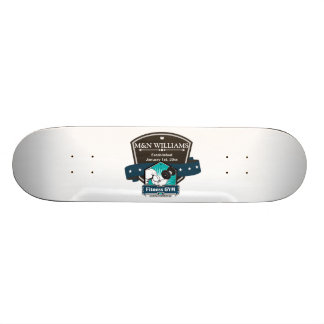 Customize Your Name Fitness Gym Logo Skateboard