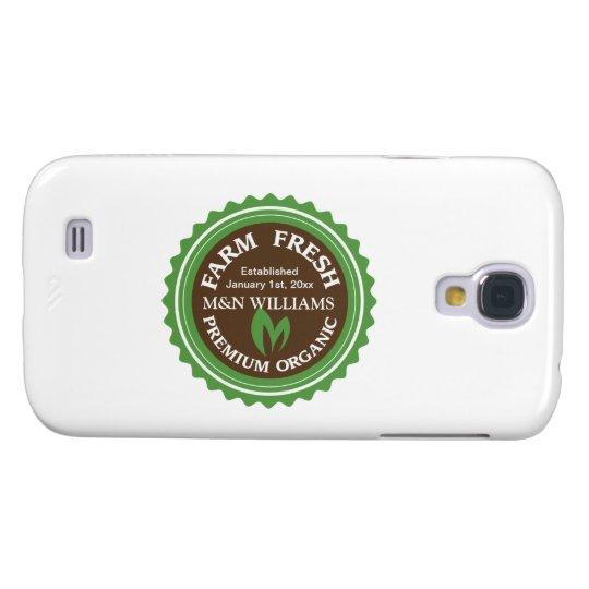 Customize Your Name Organic Farm Logo Galaxy S4 Cover