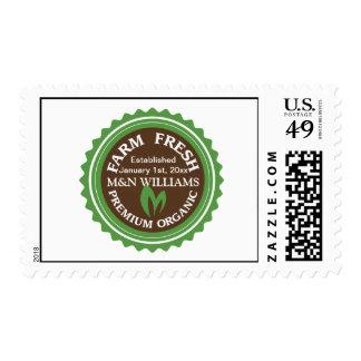 Customize Your Name Organic Farm Logo Postage