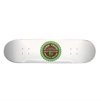 Customize Your Name Organic Farm Logo Skateboard