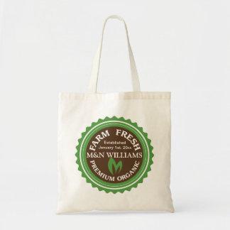 Customize Your Name Organic Farm Logo Tote Bag