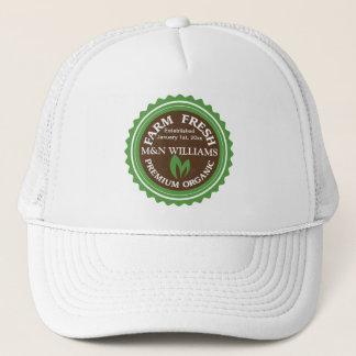 Customize Your Name Organic Farm Logo Trucker Hat