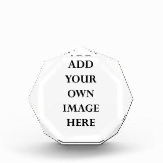 customize your octagonal acrylic block acrylic award