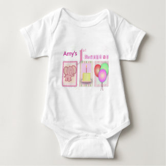 Customize your own 1st birthday baby bodysuit