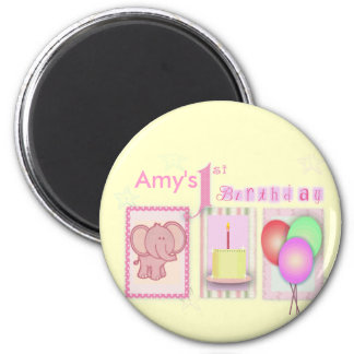 Customize your own 1st birthday magnet