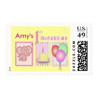 Customize your own 1st birthday postage