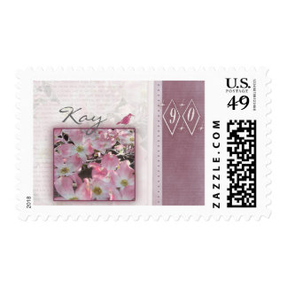 Customize your own 90th birthday postage stamps