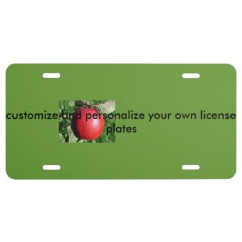 Customize Your Own Aluminum License Plates by CREATIVEforHOME at Zazzle