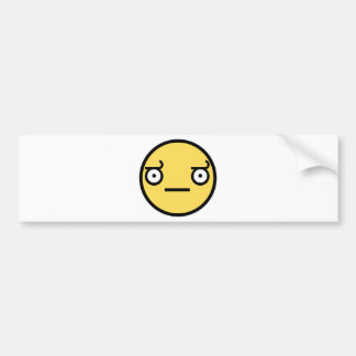 Customize Your Own: Awesome Concern Smiley Face Bumper Sticker