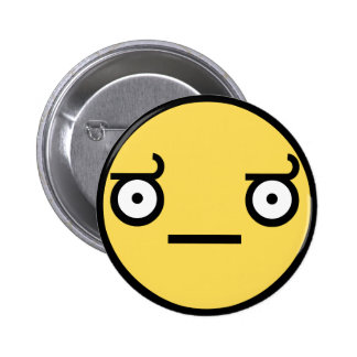 Customize Your Own: Awesome Concern Smiley Face 2 Inch Round Button
