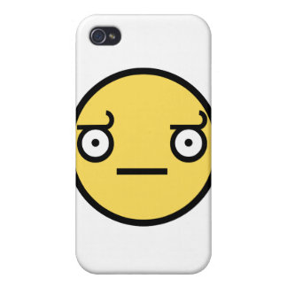 Customize Your Own: Awesome Concern Smiley Face iPhone 4 Cover