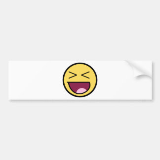 Customize Your Own: Awesome Laugh Smiley Face Bumper Sticker