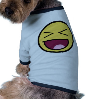Customize Your Own: Awesome Laugh Smiley Face Doggie T-shirt