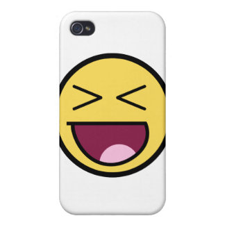 Customize Your Own: Awesome Laugh Smiley Face iPhone 4/4S Cover