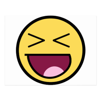 Customize Your Own: Awesome Laugh Smiley Face Postcard