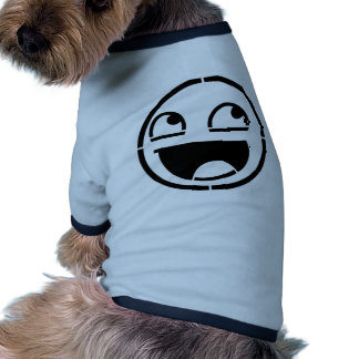 Customize Your Own: Awesome Smiley Face Stencil Doggie Tee