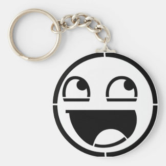 Customize Your Own: Awesome Smiley Face Stencil Keychain