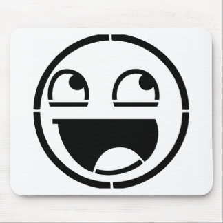 Customize Your Own: Awesome Smiley Face Stencil Mouse Pad
