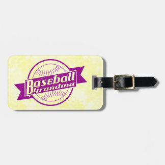 Customize Your Own Baseball Grandma Luggage Tag