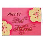 Customize your own Bat Mitzvah invitation Card