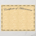 "Customize Your Own Certificate of Achievement<br><div class=""desc"">Customize your own professional looking Certificate of Achievement for any event or occasion! Just add text to this letter sized document!</div>"