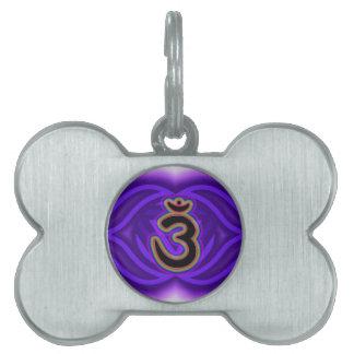 Customize Your Own Chakra Canvas  Third Eye Chakra Pet Name Tag
