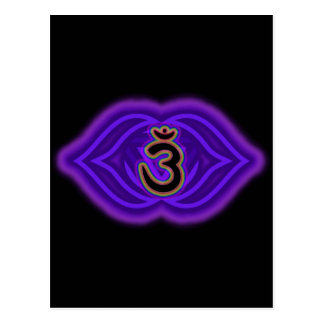 Customize Your Own Chakra Canvas  Third Eye Chakra Postcard