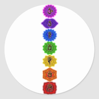 Customize Your Own Chakra Products Classic Round Sticker