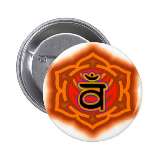 Customize Your Own Chakra  Sacral Chakra 2 Inch Round Button