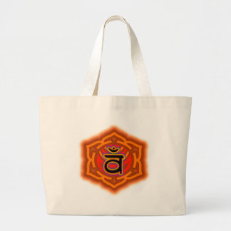 Customize Your Own Chakra  Sacral Chakra Large Tote Bag