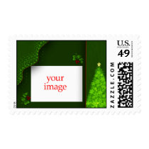 Customize your own Christmas photo... - Customized Postage Stamps