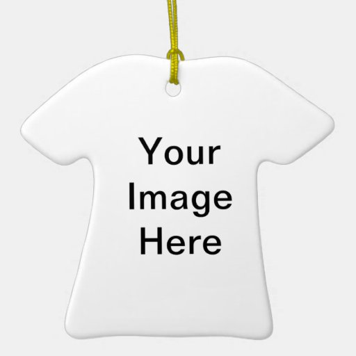 Customize Your Own Double-Sided T-Shirt Ceramic Christmas Ornament