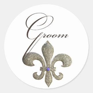 Customize your own Fleur-de-lis design Classic Round Sticker