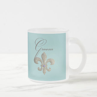 Customize your own Fleur-de-lis design Frosted Glass Coffee Mug