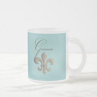 Customize your own Fleur-de-lis design 10 Oz Frosted Glass Coffee Mug